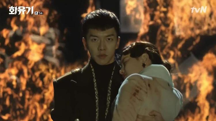 Oh Gong xuât hiện như 1 vị Thần cứu Sun Mi ra khỏi nguy hiểm