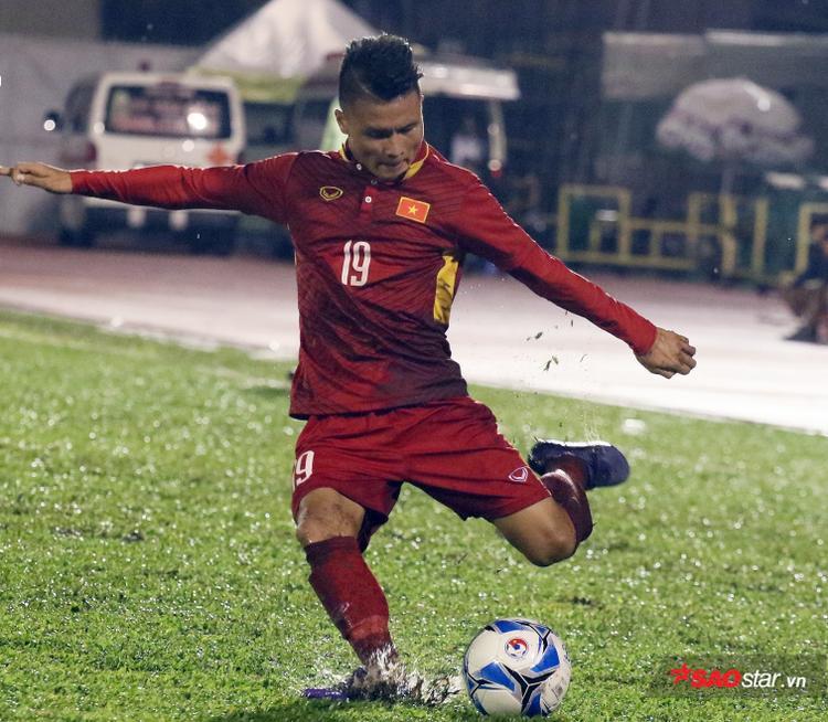 Quang Hải ghi bàn thắng duy nhất cho U23 Việt Nam.