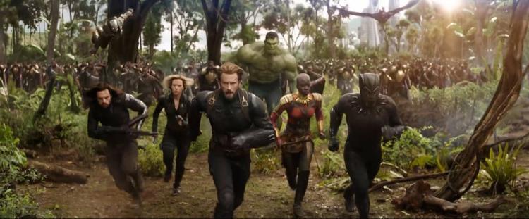 Cảnh quay có thể có đến 40 siêu anh hùng góp mặt.