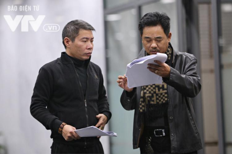 Cặp đôi Bắc Đẩu - Ngọc Hoàng đang tập kịch bản cùng nhau.
