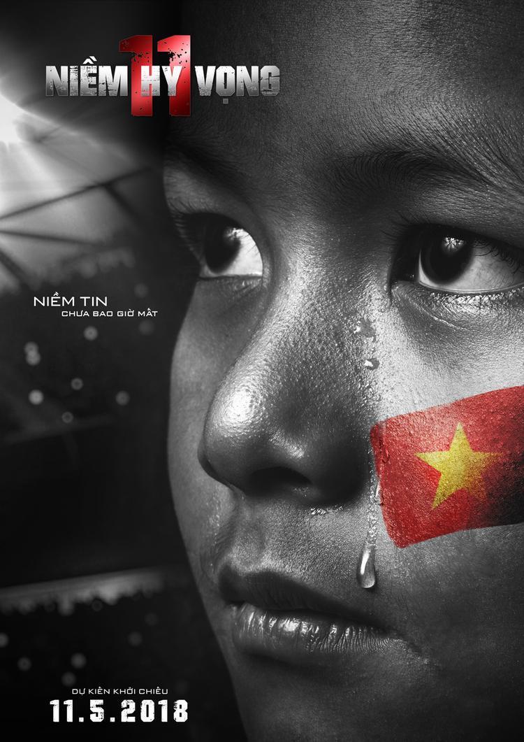 Dàn diễn viên ăn mừng U23 vào bán kết bằng bộ poster mang đậm màu cờ sắc áo Việt Nam