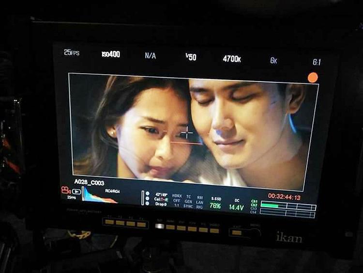 Hình ảnh trên phim giữa Khả Ngân và Tôn Vĩ Luân.