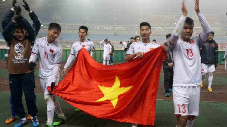 """Người hâm mộ kỳ vọng bóng đá Việt Nam sẽ """"hoá rồng"""" sau giải U23 châu Á."""