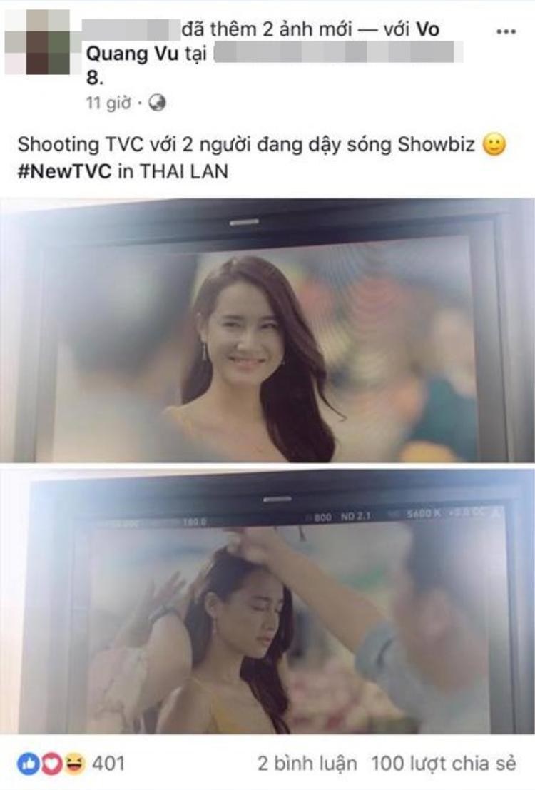 """Trước đó, hình ảnh Trường Giang - Nhã Phương cùng nhau đi Thái Lan quay quảng cáo giữa """"bão"""" dư luận cũng rò rỉ trên mạng."""