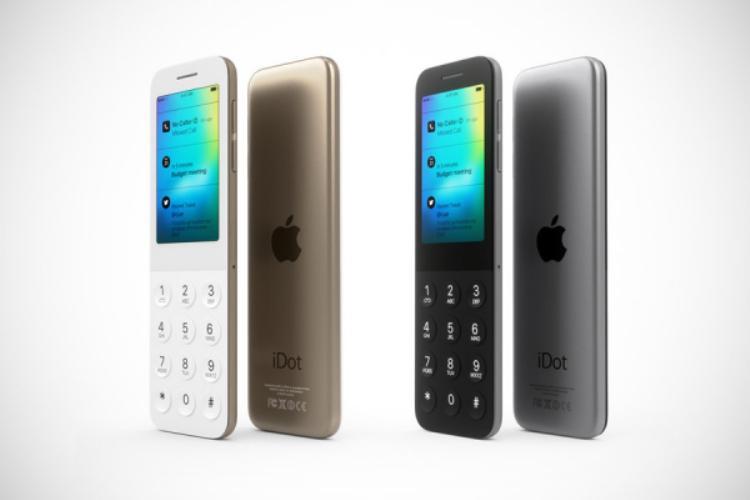 Trong hình dung của tác giả bản thiết kế, chiếc iDot có hai phiên bản màu máy khác nhau là vàng champagne và xám.
