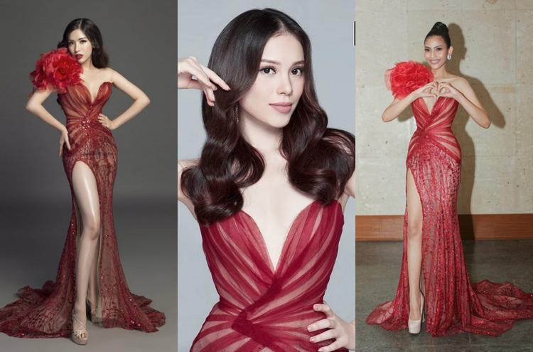 Á hậu Nguyễn Đình Khánh Phương, Thí sinh The Look, á hậu Trương Thị May là 3 người đẹp đã từng xúng xính trong bộ cánh này.
