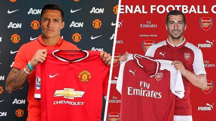 Sanchez vàMkhitaryan đổi CLB với nhau.