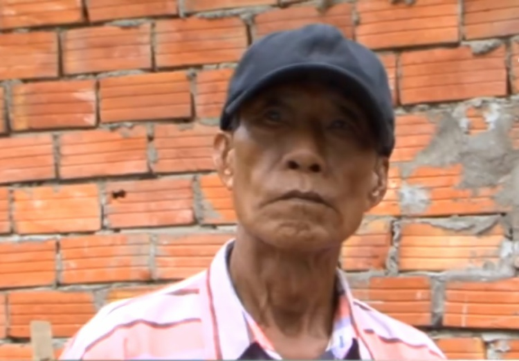 Nghi phạm Huỳnh Văn Xê khi bị bắt