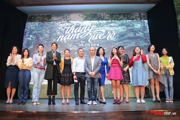 10 mỹ nhân thuộc 2 thế hệ hội ngộ trong phim Tháng năm rực rỡ của Nguyễn Quang Dũng
