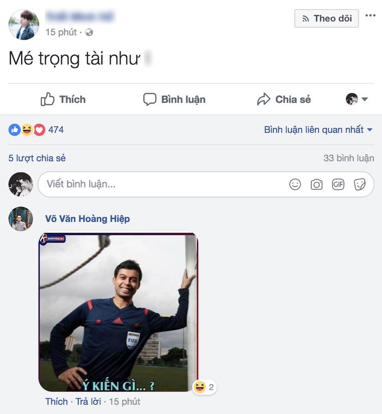 Dân mạng bức xúc với những cú thổi phạt U23 Việt Nam của trọng tài.