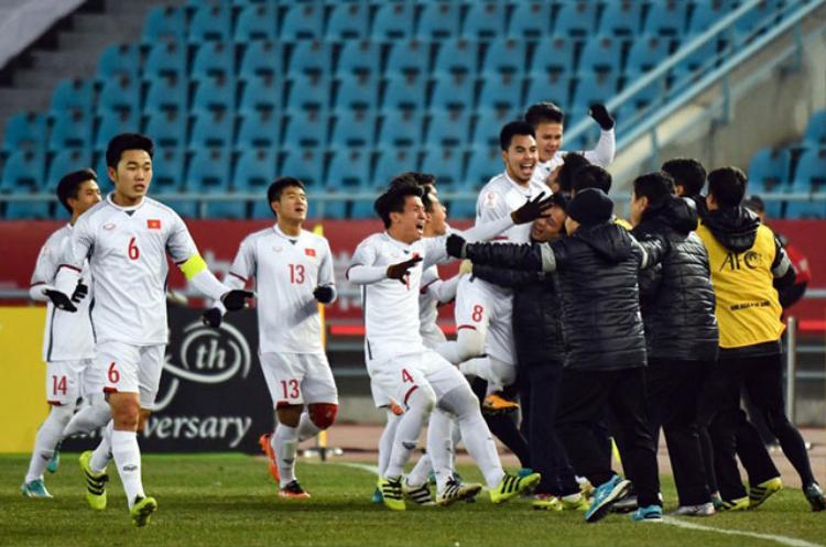 U23 Việt Nam thắng ấn tượng trước U23 Qatar. Ảnh: Zing.