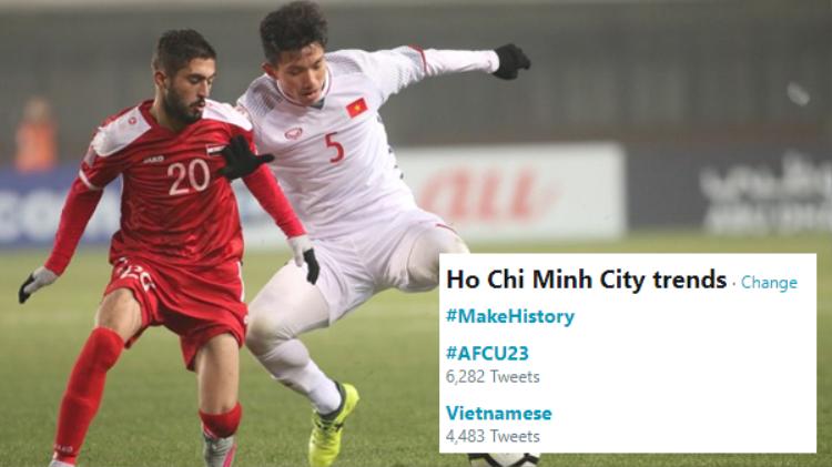 Vỡ òa cảm xúc, người dùng Facebook, Twitter đổ xô lên mạng xã hội chia vui cùng U23 Việt Nam