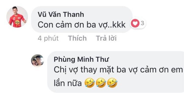 Văn Thanh cảm ơn cha vợ tương lai.