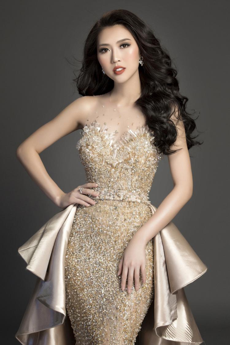 Người đẹp gốc Phú Yên cho biết hiện cô cảm thấy rất thoải mái và chắc chắn sẽ thể hiện tốt nhất ở đêm chung kết.