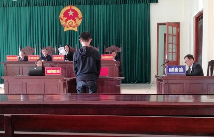 Bị cáo tại phiên tòa.