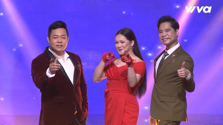 Bộ ba HLV Thần tượng Bolero mùa 3: Quang Lê - Như Quỳnh - Ngọc Sơn.