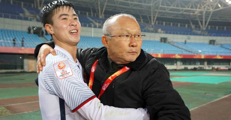 HLV Park Hang Seo đưa U23 Việt Nam vào chung kết.