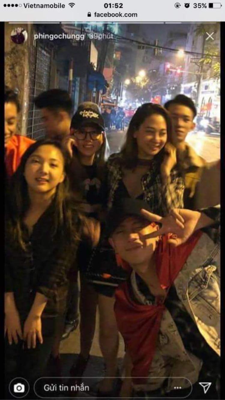 Cô gái đội mũ đen chính là người mà Hưng đã hôn