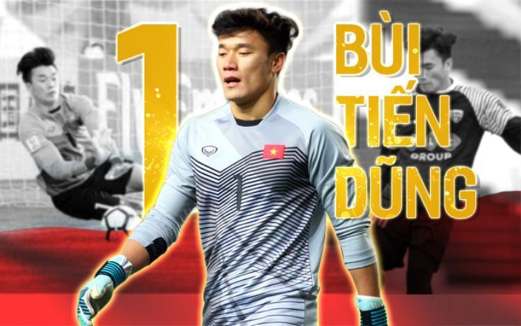 Thủ môn Bùi Tiến Dũng đang gây sốt cộng đồng mạng và hàng triệu trái tim người hâm mộ Việt Nam.