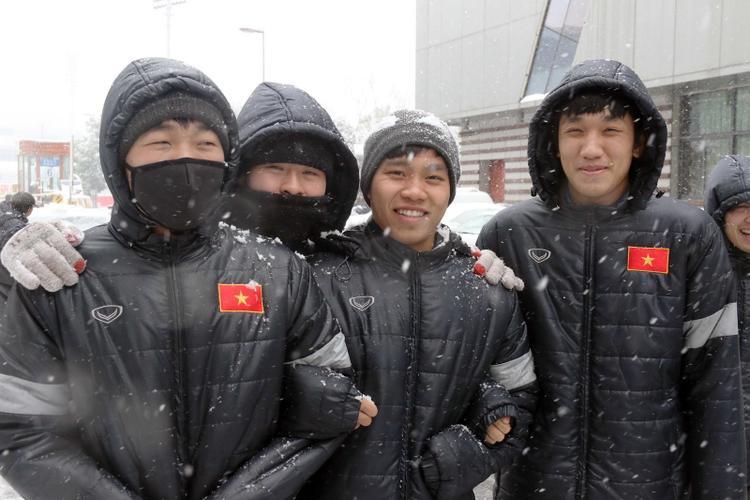 Tuyết rơi ở Thường Châu (Trung Quốc). Ảnh: Nhật Đoàn.