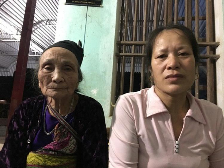 Bà Điều (bên phải) chia sẻ về câu chuyện của Dũng. Ảnh: Dân Trí