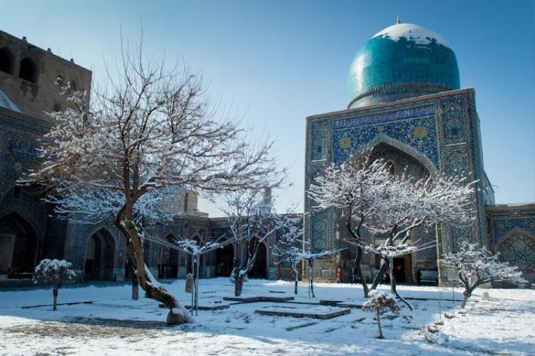 Mùa đông tại thành phố Samarkand,Uzbekistan.