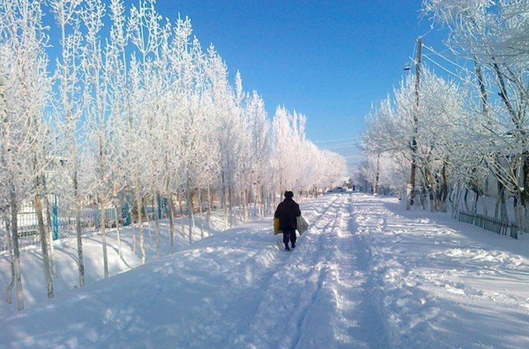 Các lớp tuyết thường dày từ 5-15cm.