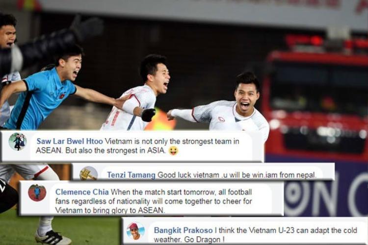 Không chỉ trong nước, mà nước ngoài cũng đang ủng hộ U23 Việt Nam giành chức vô địch.
