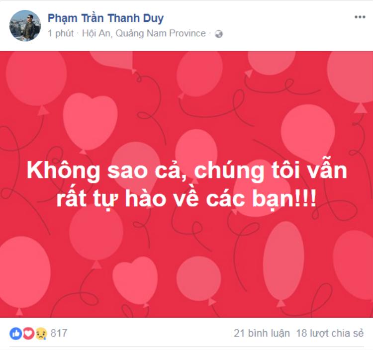 Thanh Duy Idol dành tình cảm trân trọng cho các cầu thủ U23 Việt Nam.