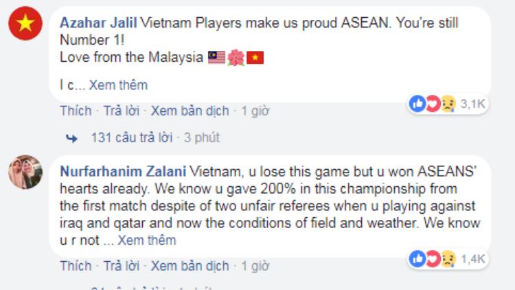 Cổ động viên các nước trên thế giới gửi lời chia buồn tới Việt Nam trên mạng xã hội.