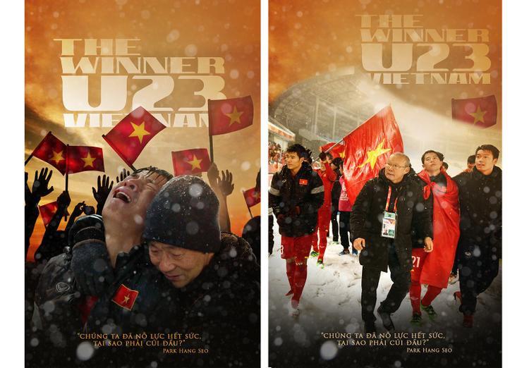 Lặng người với bộ poster The Winner U23 Viet Nam cùng câu nói truyền cảm hứng