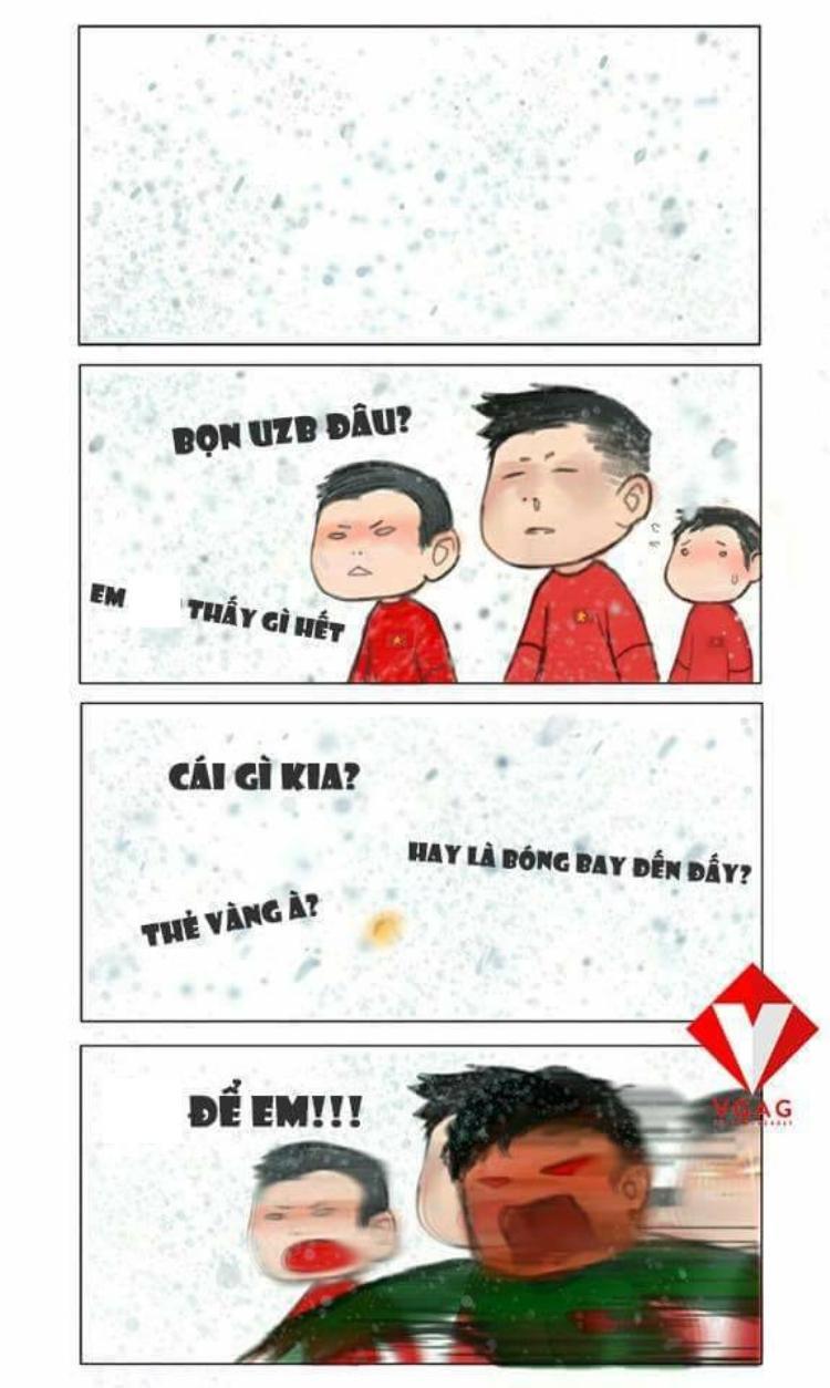 Trận chung kết giữa tiết trời tuyết rơi trắng xóa thật sự là một thử thách khó khăn với U23 Việt Nam. Nhưng không sao, đã có thủ môn Tiến Dũng!