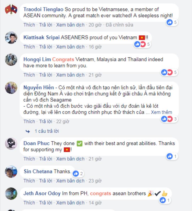 Rất nhiều người hâm mộ trong khu vực cũng dành tình cảm cho đội tuyển U23 Việt Nam.