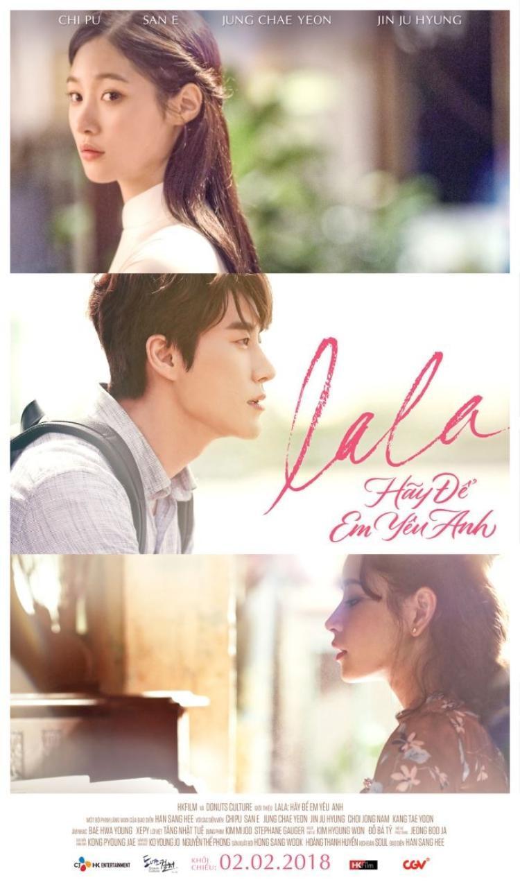 Poster chính của Lala: Hãy để em yêu anh- dự án hợp tác mới của dòng điện ảnh Việt - Hàn.