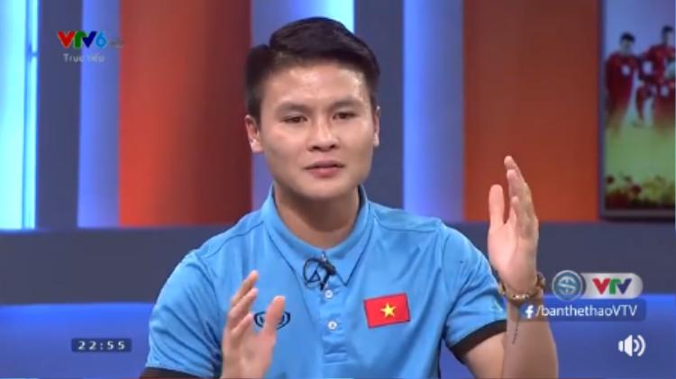 Quang Hải đã có những chia sẻ rất dễ thương với khán giả cả nước.