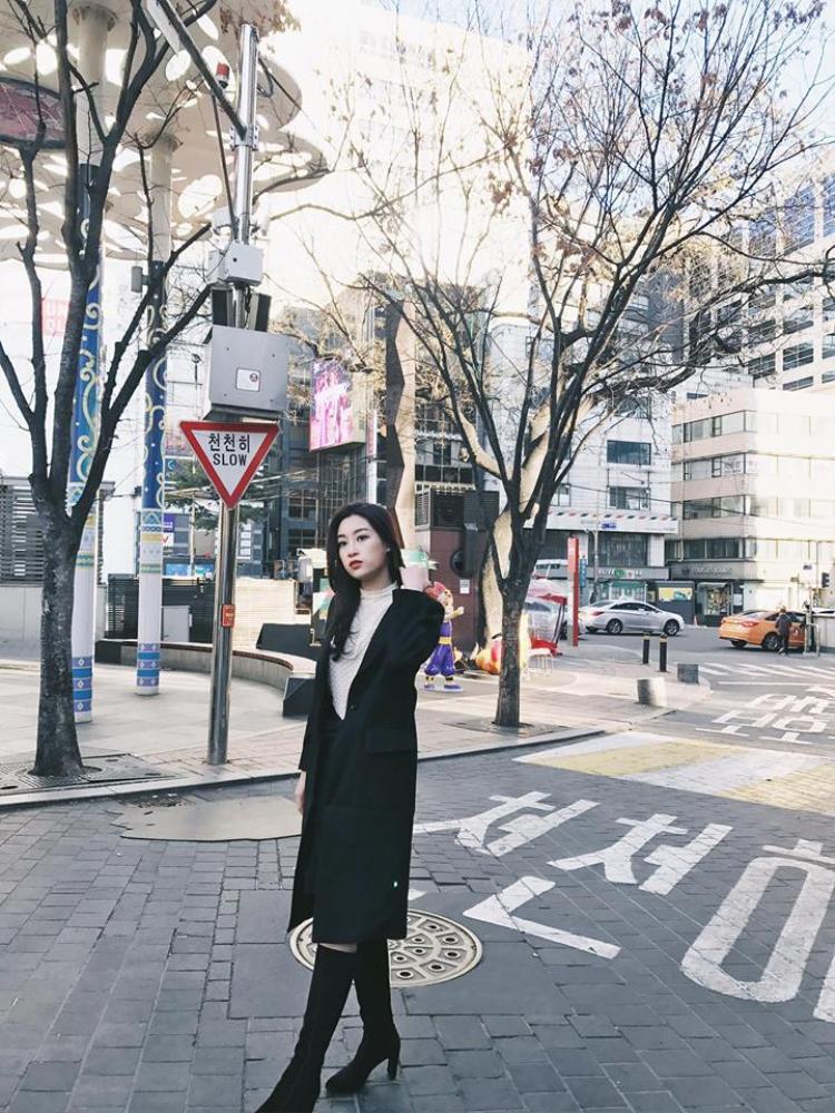 Street style của Hoa hậu Đỗ Mỹ Linh được các tín đồ thời trang đánh giá cao. Thêm vào đó, gương mặt xinh đẹp của Hoa hậu Việt Nam 2016 cũng được fan khen ngợi.