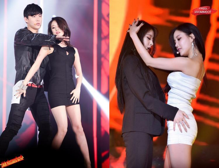 """Cùng một ca khúc nhưngcuối cùng Jiyeon cũng """"thành công"""" khi sát cánh với Hyomin."""