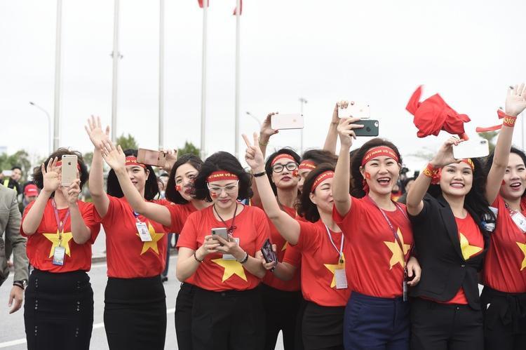 Không giành chiến thắng trong trận chung kết nhưng người hâm mộ vẫn hết lòng ủng hộ đội tuyển U23 Việt Nam.