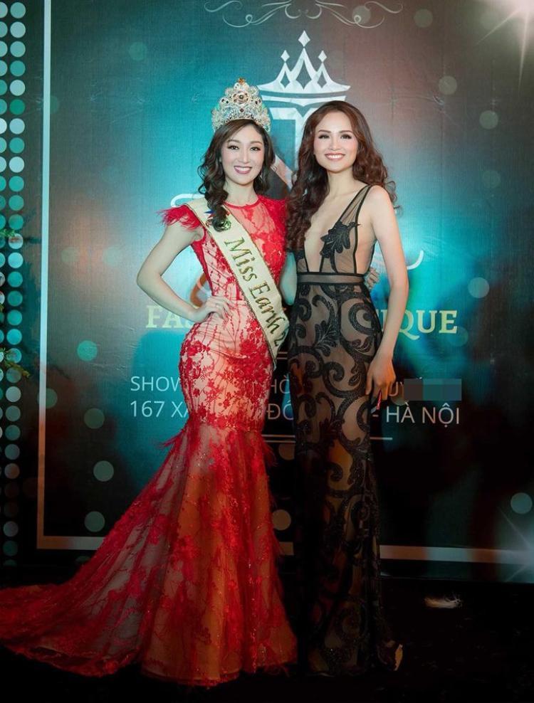 Tại sự kiện Karen Ibasco cũng diện bộ cánh xuyên thấu màu đỏ khá nổi bật tuy nhiên cô bị đánh giá kém sắc. Được biết Diễm Hương hơn đương Kim Hoa hậu Trái đất 1 tuổi, song nhìn chung mỹ nhân Philippines có vẻ già dặn hơn Diễm Hương rất nhiều.