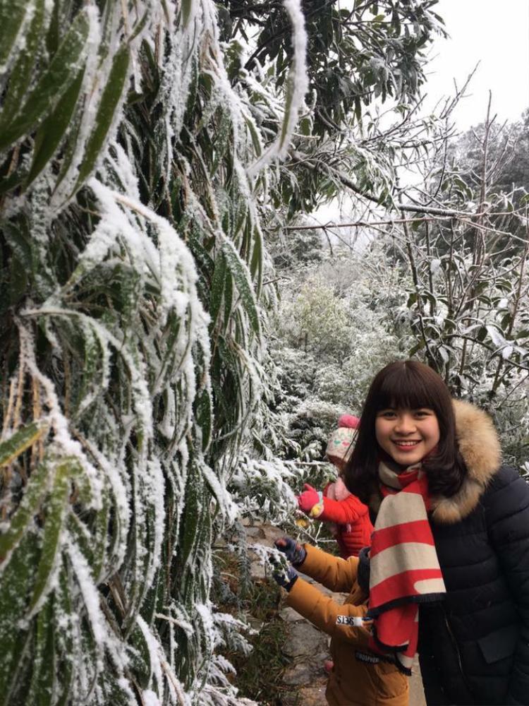 Ngay sau khi có thông tin tuyết ở Sa Pa bắt đầu rơi rất nhiều các bạn trẻ đã đổ về đây tham quan.