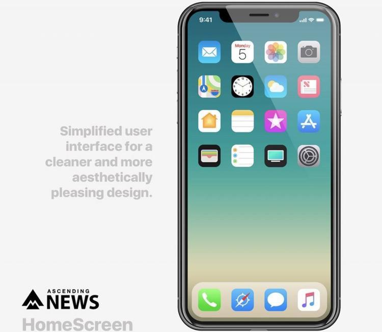 Giao diện mới dễ nhìn hơn nhờ việc người dùng có thể ẩn tên của các ứng dụng, tương tự như cách Apple thực hiện trên các ứng dụng Phone, Safari, iMessages và iMusic trên thanh dock của iOS 11.