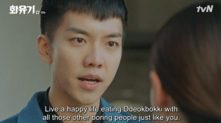 """Lời chúc cuối cùng của Đại Thánh: """"Đi mà ăn Deokbokki với những người buồn tẻ như cô đi Ji Sun Mi""""."""