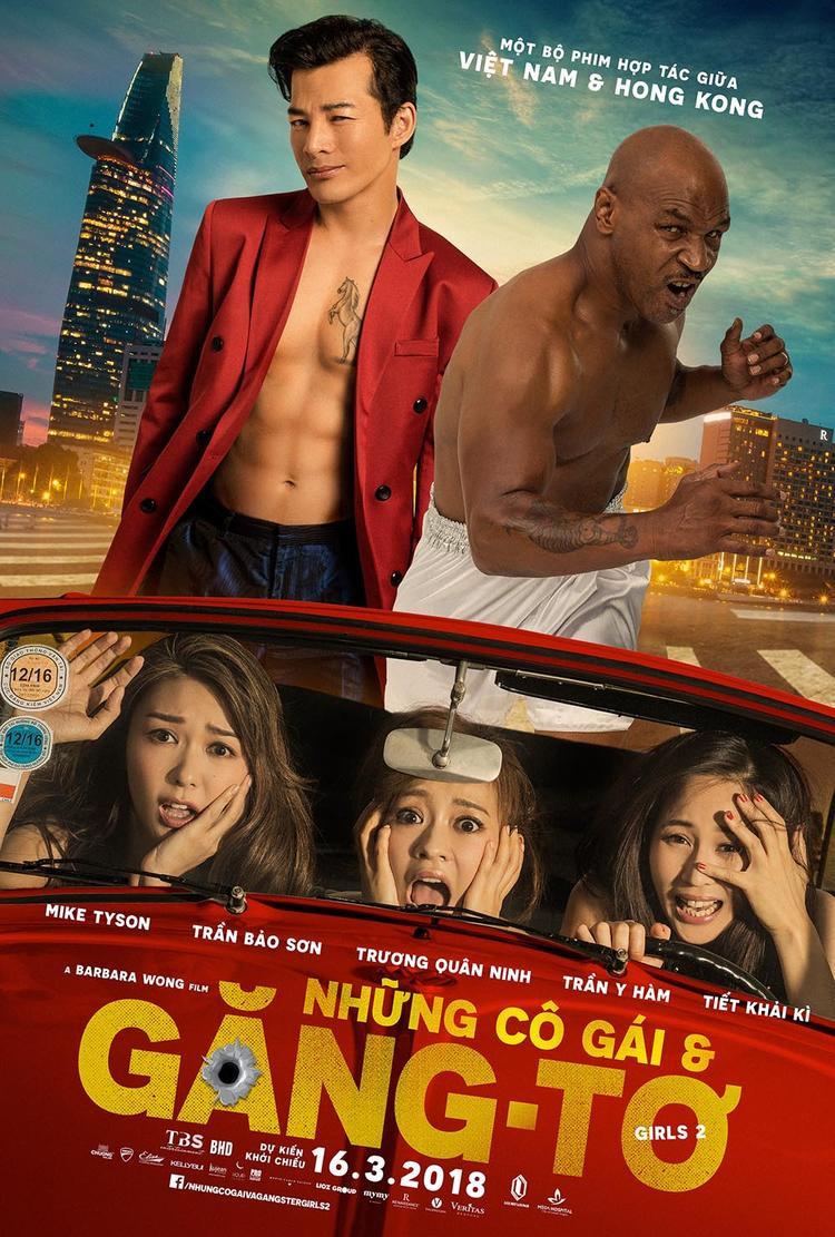 Elly Trần khoe ngực khủng quyến rũ chết người bên trai cơ bắp Mike Tyson và Trần Bảo Sơn