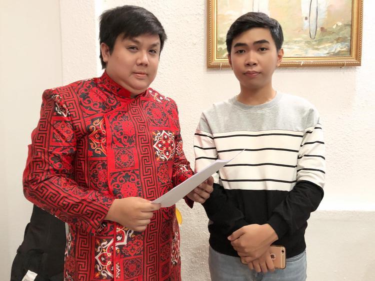 Nghệ sĩ hài Gia Bảo và diễn viên trẻ Minh Dự.