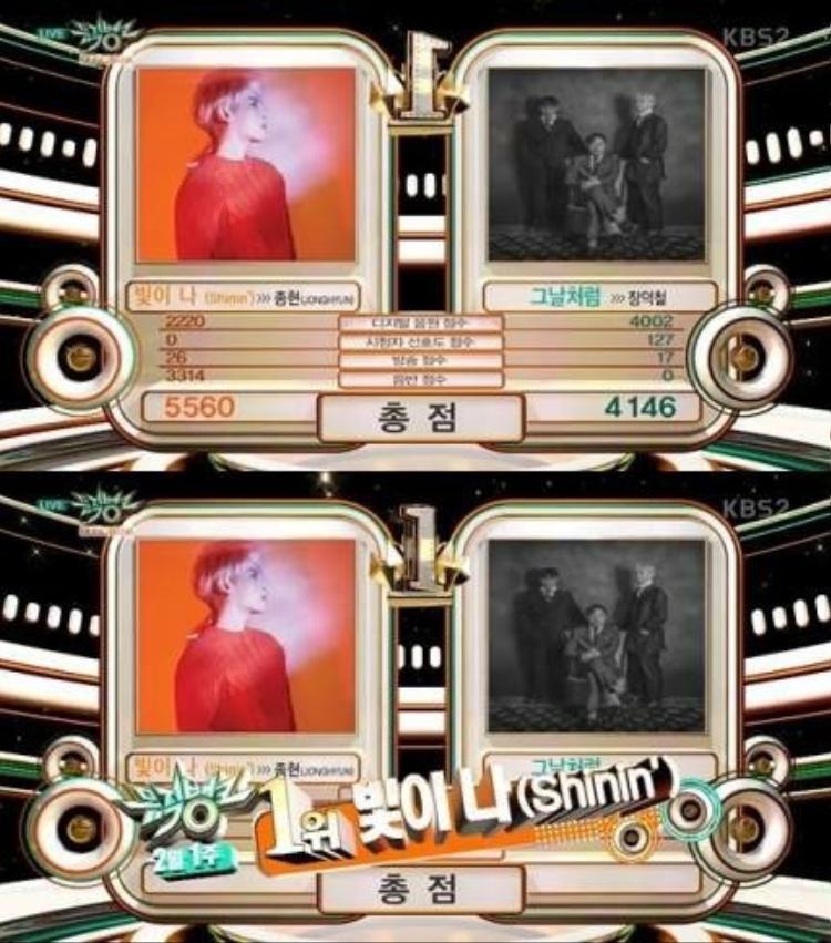 Shinin'- Jonghyun với chiến thắng đầu tiên tại Music Bank.