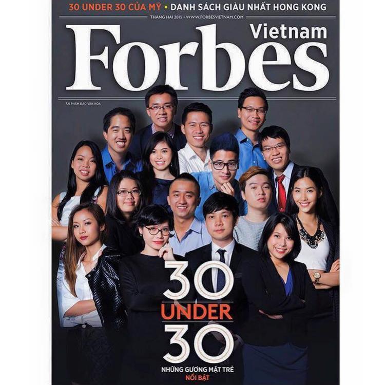 Thủy Muối được tạp chí Forbes Việt Nam vinh danh 30 gương mặt trẻ nổi bật nhất năm 2015.