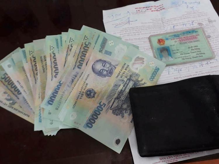 Chàng trai làm mất chiếc ví có 17,5 triệu đồng.