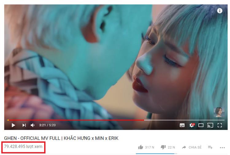 Ghen thuộc thể loại Tropical house vốn còn khá mới mẻ với Min lẫn Erik. Nhưng cuộc thử nghiệm này đã thành công như mong đợi, hiện tại MV đạt con số gần 80 triệu lượt xem trên Youtube.