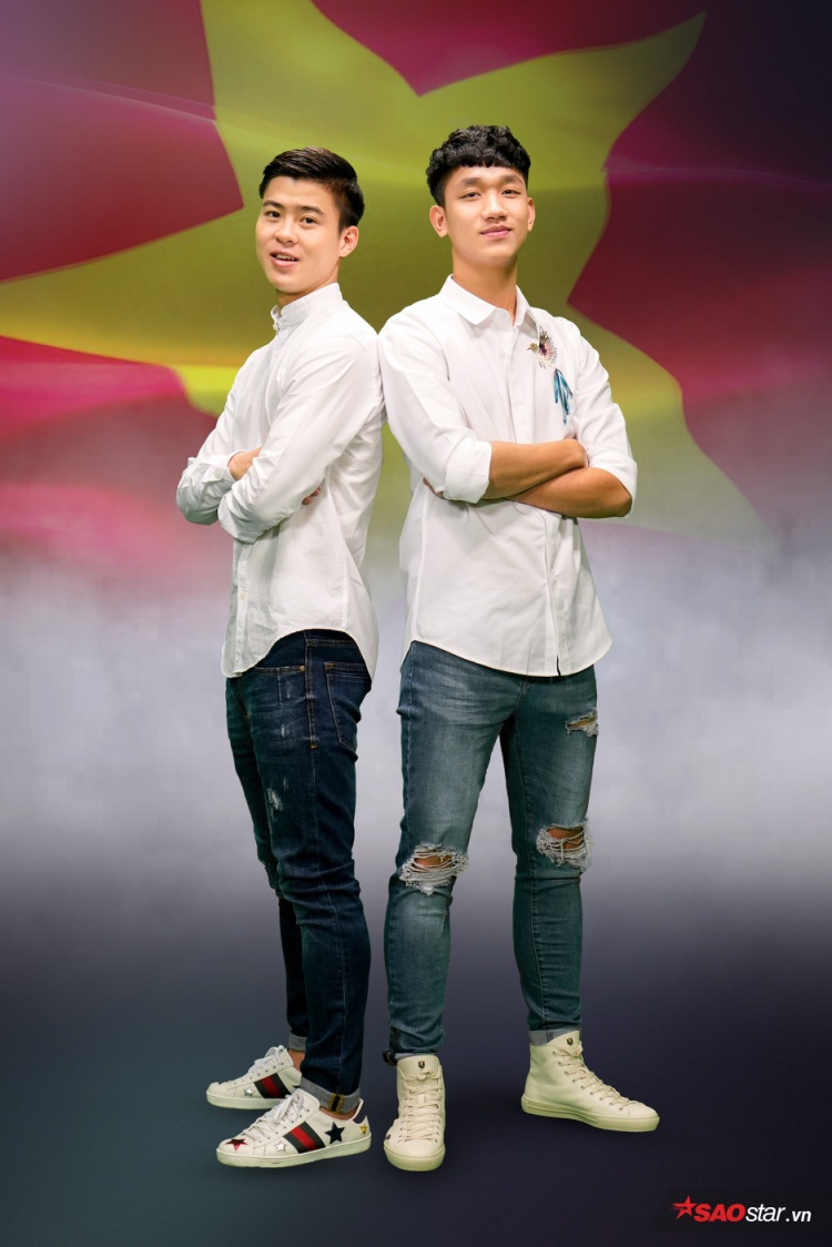Vẻ ngoài điển trai của bộ đôi cực phẩm đội tuyển U23 Việt Nam.