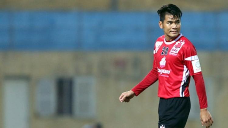 Hậu vệ Huỳnh Quang Thanh.